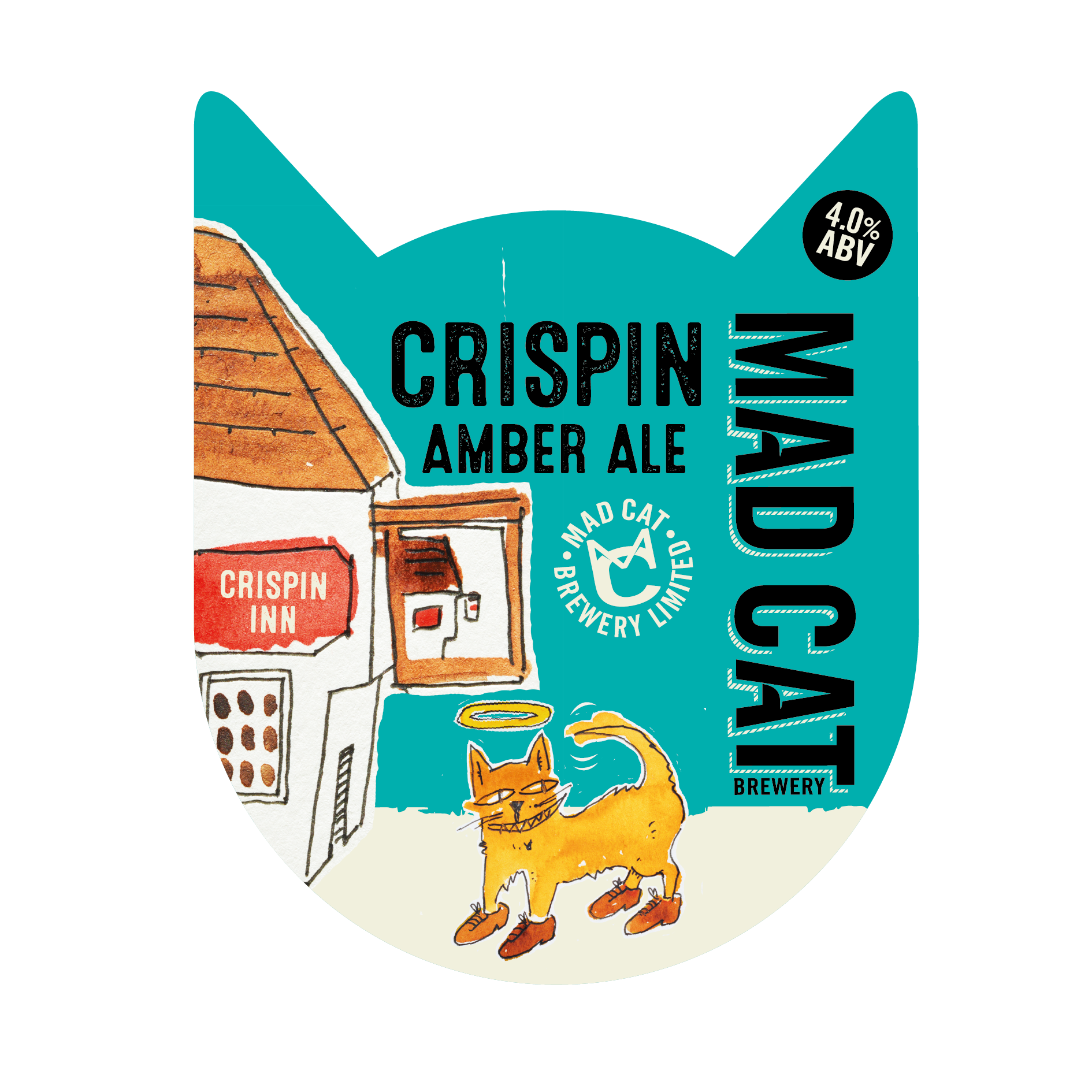 Crispin Amber pump clip mad cat ales core