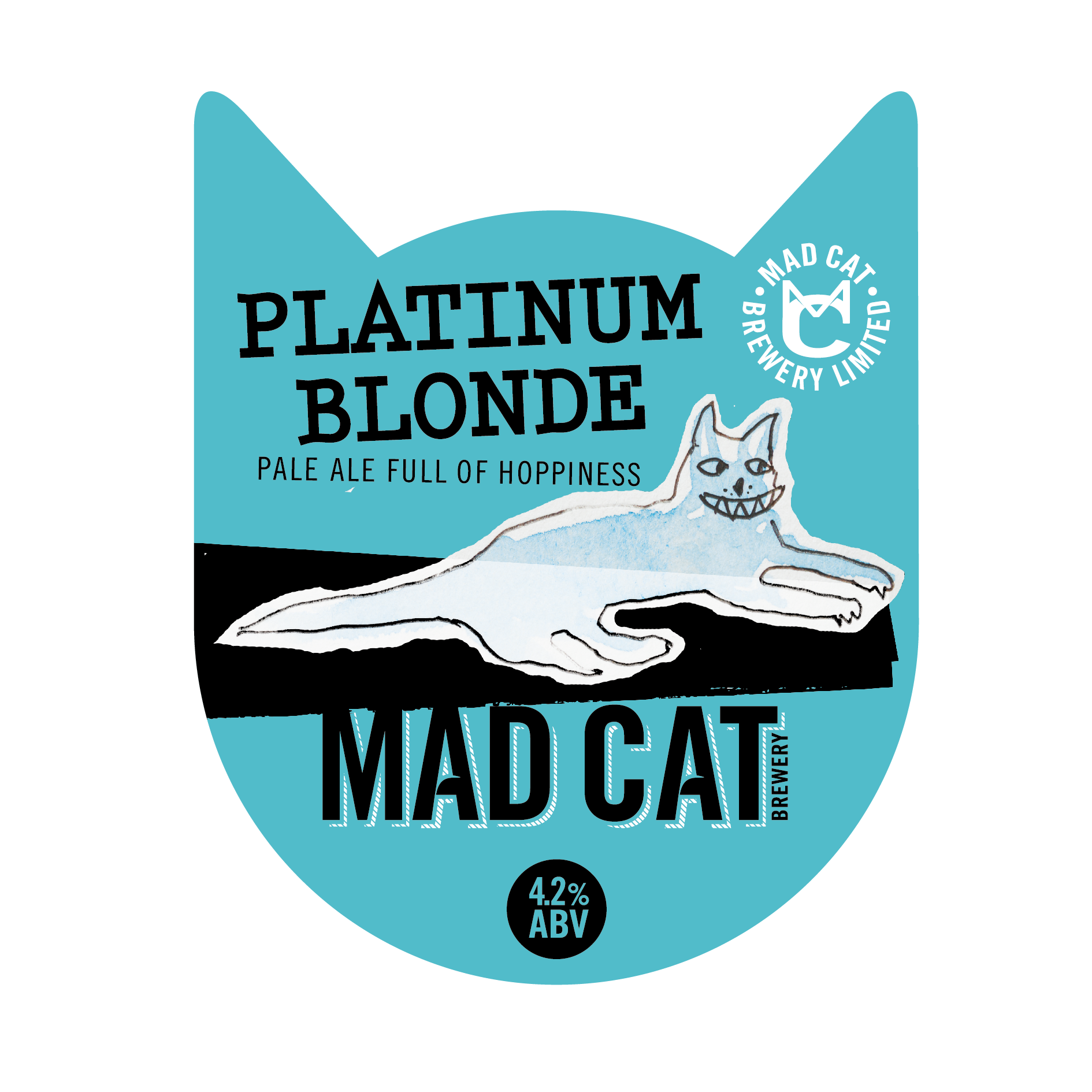 Platinum Blonde pump clip mad cat ales